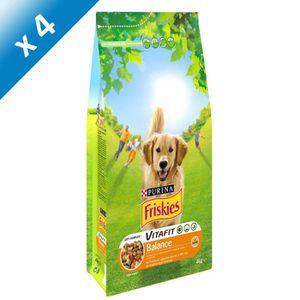 FRISKIES Vitafit Balance : au Poulet et Légumes ajoutés - 4 KG (X4) - Pour chien adulte
