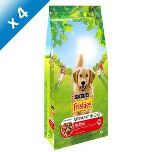 FRISKIES Vitafit Active : au B?uf - 4 KG (X4) - Pour chien adulte