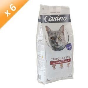 CASINO Croquettes au b?uf, ? la volaille et au poisson - Pour chat - 2kg (x6)