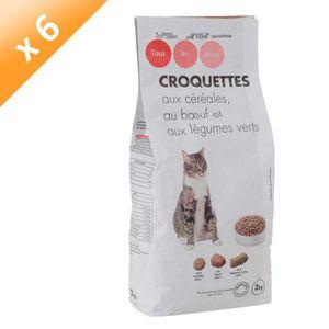 CASINO Croquettes au b?uf et aux légumes - Pour chat - 2kg (x6)
