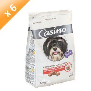 CASINO Croquettes moelleuses riches en b?uf - Pour chien - 1,5kg (x6)