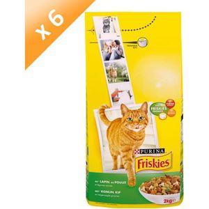 FRISKIES Chat au Lapin, au Poulet et Légumes ajoutés - 2 KG (x6) - Pour chat adulte