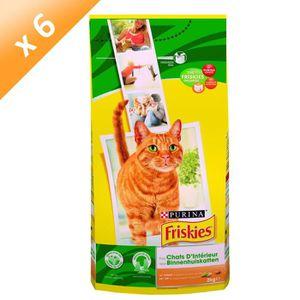 FRISKIES Chat d'Intérieur au Poulet et Légumes du Jardin ajoutés - 2 KG (x6) - Pour chat adulte