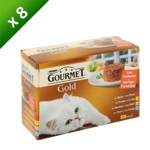 GOURMET Gold les Timbales - Pour chat - 12x85g (x8)