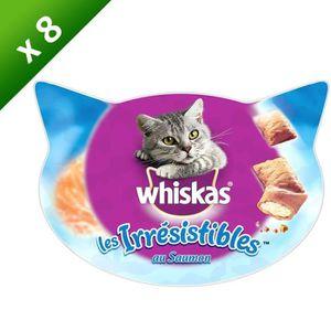 WHISKAS Les Irrésistibles au saumon pour chat 60g (8)