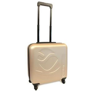 KINSTON Valise Cabine Low Cost Rigide ABS 4 Roues 46 cm Champagne