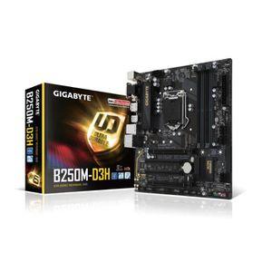 Gigabyte Carte m?re GA-B250M-D3H - Socket LGA 1151 - DDR4 - 2400 Hz - 64 Go