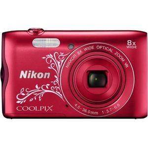 NIKON COOLPIX A300 - Appareil photo numérique Compact - Rouge arabesque