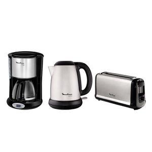 Pack MOULINEX Subito : Bouilloire électrique BY540D10 + Cafeti?re filtre FG362810 + Grille-pain LS260800