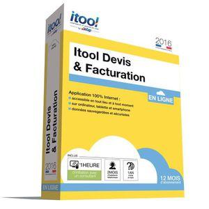 Etablissez votre gestion facilement et en toute sécurité avec la solution en ligne Itool - 1 an d'abonnement ? l'application Itool Devis & Facturation - Mises ? jour automatiques - Réaliser des devis, bons de commande...1h d'Initiation - 2 mois d'Assistan