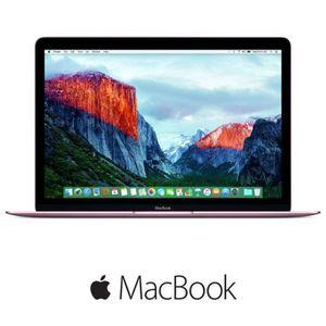 Apple MacBook MMGM2FN A 12 Retina 8Go de RAM OS X El Capitan Intel Core m5 Disque Dur 512Go Rose Gold