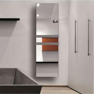 CARRERA Impérial 1100 watts Radiateur s?che-serviettes électrique - Façade en verre miroir