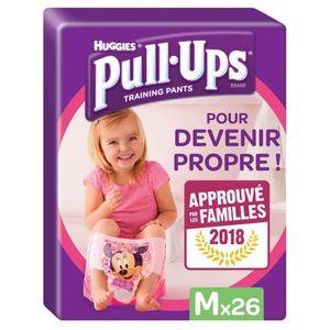 HUGGIES Pull Ups Minnie Taille 5 M 11-18Kg - 26 culottes d'apprentissage