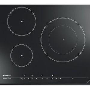 ROSIERES TRI17 - Table de cuisson ? induction - 3 zones - 7200W - L59 x P52cm - Rev?tement verre - Noir