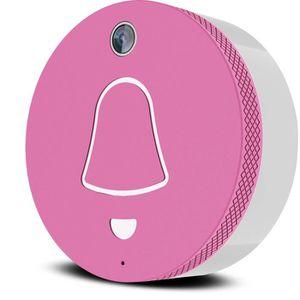 EXTEL Link Carillon connecté WiFi rose avec caméra grand angle