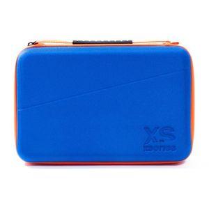 XSories - UNIVERSAL CAPXULE LARGE - Housse de rangement pour caméra ou appareil électronique, filet de rangement, poignée, Bleue