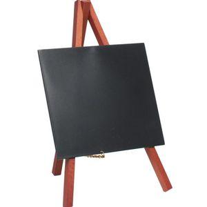 Set de 3 minis chevalets de table, couleur acajou