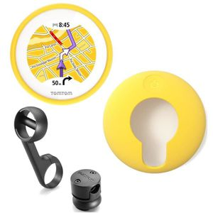 TomTom VIO GPS pour Scooter + Housse silicone jaune
