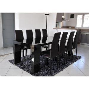 ZACK Table console extensible 8 personnes 45-200x90 cm - Laqué noir