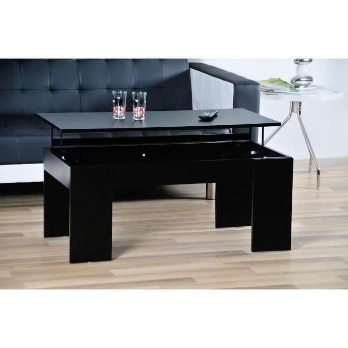 table basse relevable noir laque. Black Bedroom Furniture Sets. Home Design Ideas