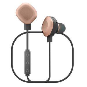 Wiko écouteurs Bluetooth Wishake avec micro Noir/cuivre