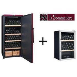 LA SOMMELIERE VIP265PCD-Cave ? vin de vieillissement-265 bouteilles-A+ ET Cave ? vin de service-40 bouteilles-B