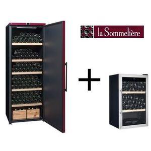 LA SOMMELIERE VIP315PCD Cave ? vin de vieillissement-325 bouteilles-A+ ET Cave ? vin de service-40 bouteilles-B