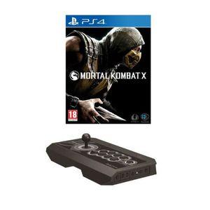 Pack Joystick Real Arcade Pro PS4 + Mortal Kombat X Jeu PS4