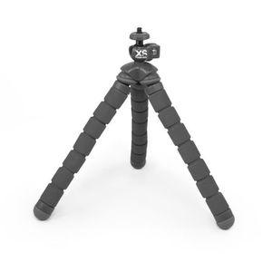 XSories - BENDY - Trépied articulé pour GoPro, appareil photo ou caméra, hauteur 18 cm, charge maximale 450 grammes, Gris
