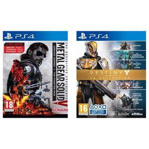 Pack de 2 jeux PS4 : MGS V + Destiny