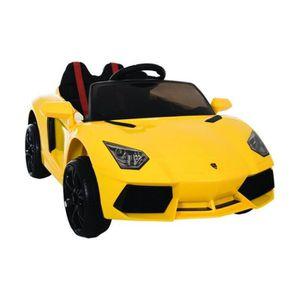 Voiture électrique enfant Lamborghini 12 volts Jaune