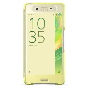 Sony Style Cover Touch Jaune pour Xperia X