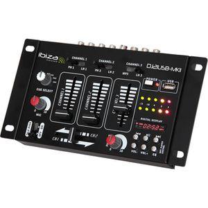 IBIZA DJ21USB-MKII Table de mixage ? 4 voies/7 canaux + USB - Noir
