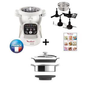 Pack spécial : Robot cuiseur MOULINEX Companion HF800A10 + Accessoire cuiseur vapeur XF384B10