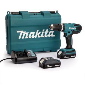 MAKITA Perceuse visseuse ? percussion avec 2 batteries 18 V 1,3Ah Li-ion et coffret 71 accessoires
