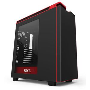 NZXT Boîtier PC H440 - Noir / Rouge - Moyen Tour - Fen?tre
