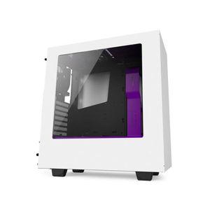 NZXT Boîtier PC S340 - Moyen Tour - Fen?tre - Blanc / Violet