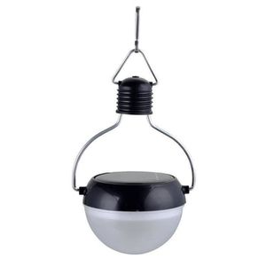 GALIX Lampion solaire plastique - Noir