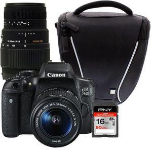 CANON 750D 18-55 S DFIN + SIGMA 70-300mm + Sacoche + Carte 16Go