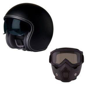 STORMER Cruz Casque Jet Noir Mat avec Masque Intégral Rmask