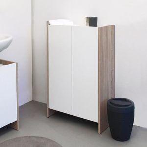 Rangement salle de bain achat vente rangement salle de for Meuble bas salle de bain 2 portes