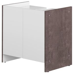 meuble sous lavabo gris achat vente meuble sous lavabo gris pas cher cdiscount. Black Bedroom Furniture Sets. Home Design Ideas