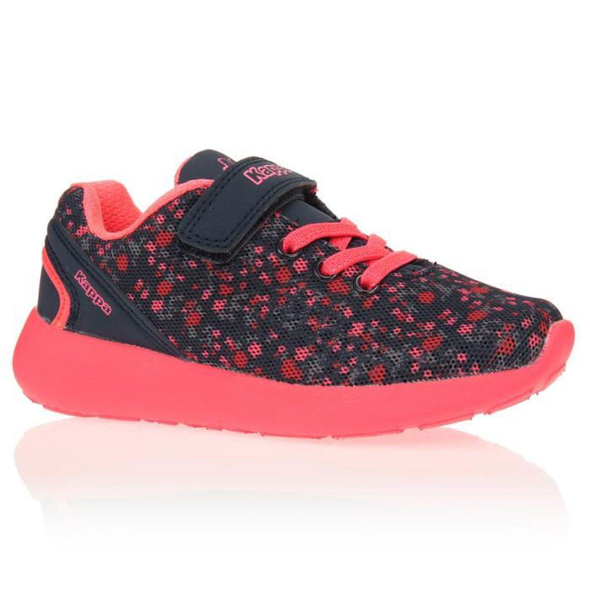 kappa baskets calita chaussures enfant fille marine et rose achat vente basket cdiscount. Black Bedroom Furniture Sets. Home Design Ideas