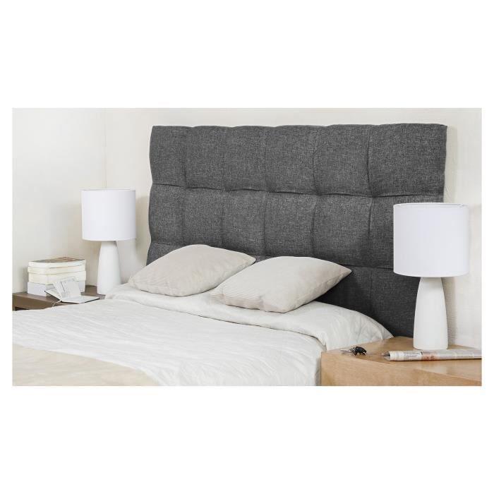 finlandek t te de lit dream 140 cm gris fonc achat vente t te de lit dream t te de lit 154. Black Bedroom Furniture Sets. Home Design Ideas