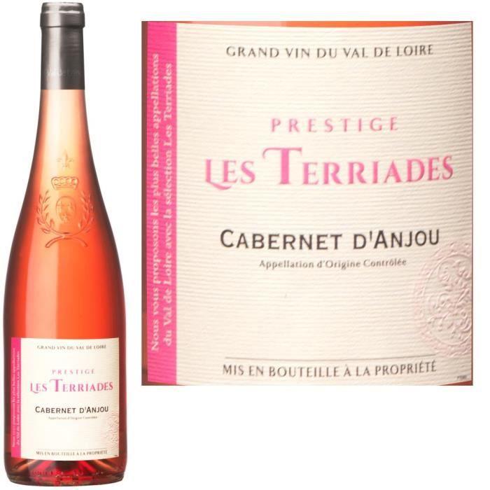 """VIN ROSE Les Terriades """"Prestige"""" 2013 Cabernet d'Anjou"""