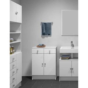 COLONNE - ARMOIRE SDB GALET Meuble de salle de bain 60 cm - Blanc
