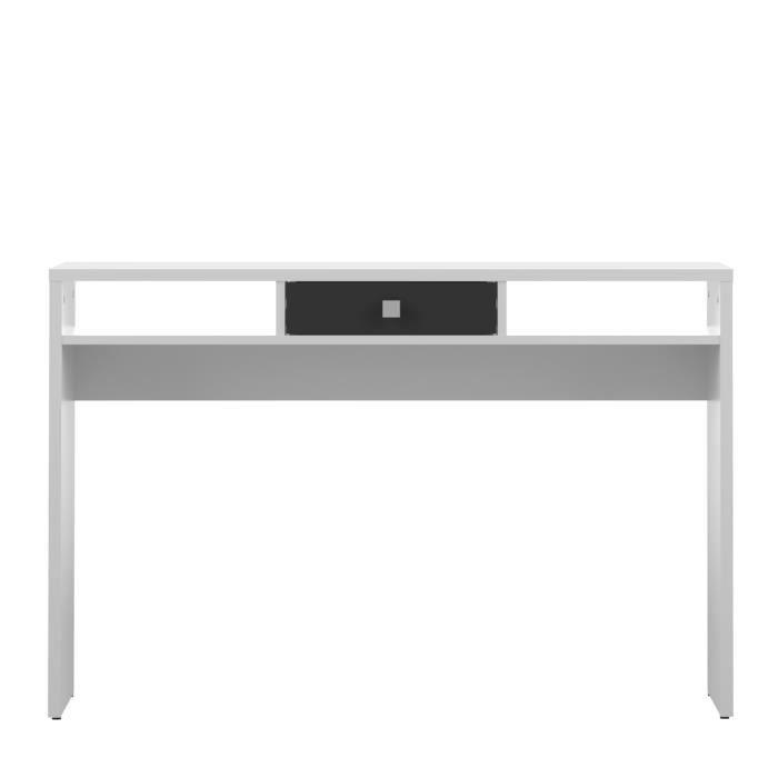 Line console blanc et noir 120cm achat vente console line console 2 niche - Console blanc laque avec tiroir ...