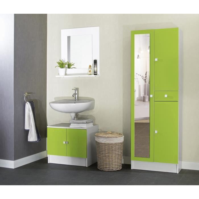 Armoire de salle de bain avec miroir et lumiere maison for Armoire salle de bain blanc