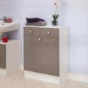 Rangement salle de bain achat vente rangement salle de - Meuble salle de bain bac a linge integre ...