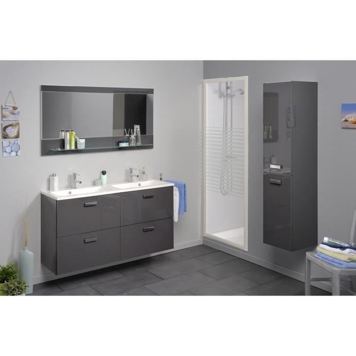 LUNE Ensemble de salle de bain 120 cm - Gris - Achat ...